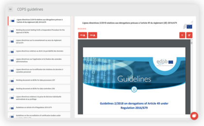 DLD GDPR platform includes high quality legal content written by professional in data law